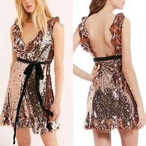 NWT FREE PEOPLE TRIBECA SEQUINED DRESS - SZ 2